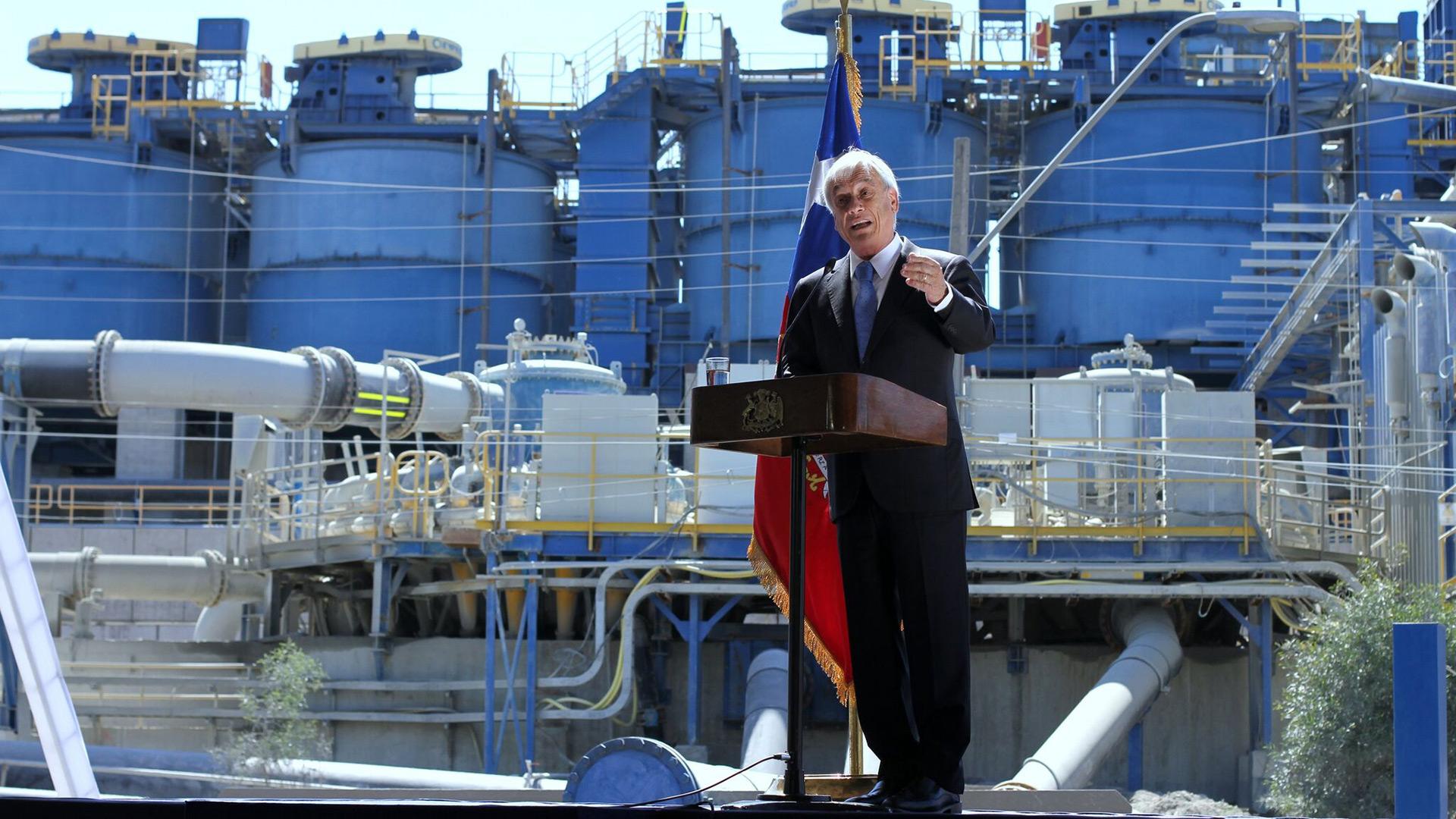 Presidente Piñera inaugura nueva planta para el procesamiento de relaves finos de Minera Valle Central