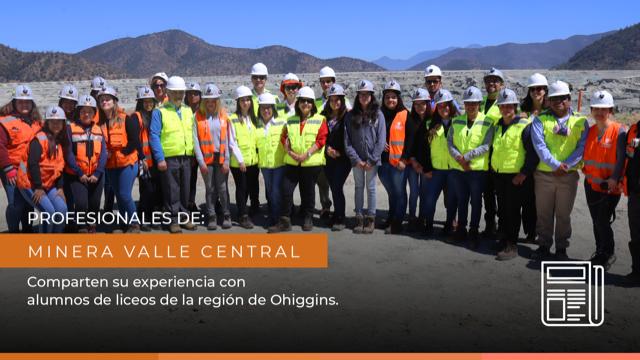 Alumnas de Rancagua, Machalí y Las Cabras conocieron áreas productivas de El Teniente