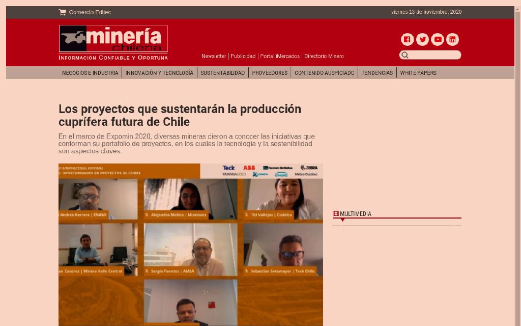 LOS PROYECTOS QUE SUSTENTARÁN LA PRODUCCIÓN CUPRÍFERA FUTURA DE CHILE